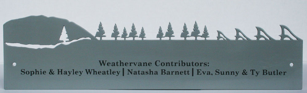 Matching custom plaque