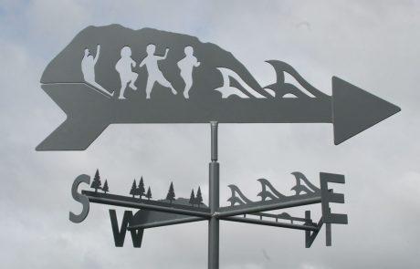 Custom made weathervane for Lake Cathie School