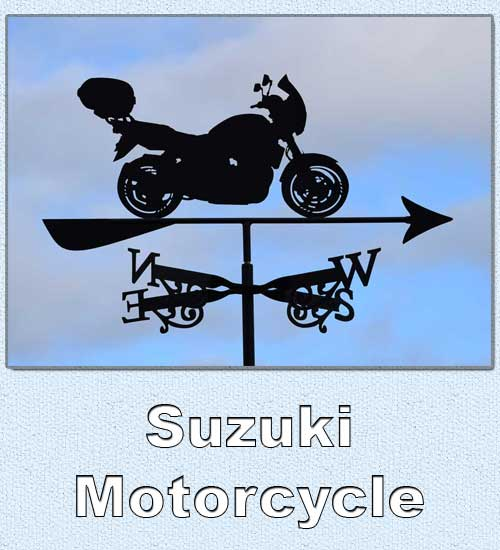 Suzuki Motorcycle Weathervane Australian Made
