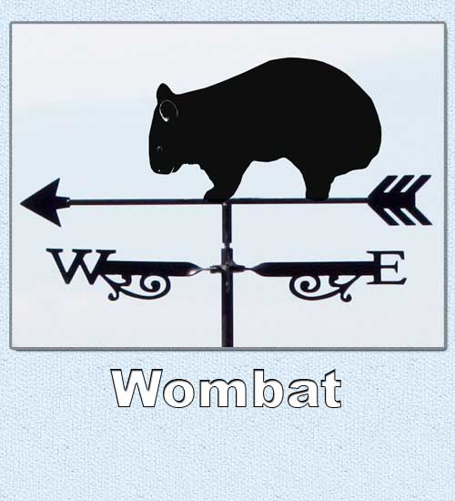 Australian wombat weathervane